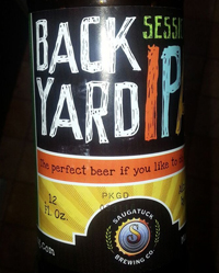 Backyard IPA by Saugatuck Brewing Company