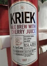 Kriek Ale Brew With Cherry Juice by Cesu Alus