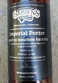 Imperial Porter Aged In Bourbon Barrels от Salden's Brewery
