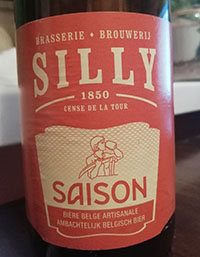 Silly Saison by Brasserie de Silly