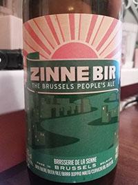 Zinne bir by Brasserie de la Senne