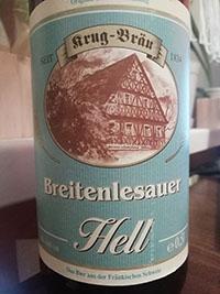 Breitenlesauer Hell beer by Krug-Brau
