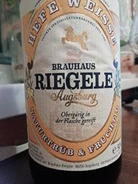 Hefe Weisse by Brauhaus Riegele brewery