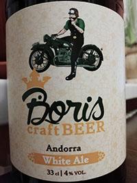 Boris craft beer White Ale