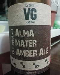 Alma Mater Amber Ale от VG Craft Beer