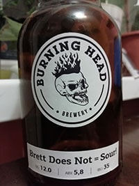 Brett Does Not = Sour! от Burning Head Brewery