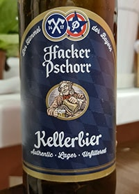 Kellerbier by Hacker-Pschorr