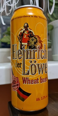 Heinrich der Lowe Wheat beer by Hofbrauhaus Wolters