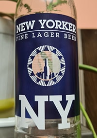 Fine Lager Beer by New Yorker