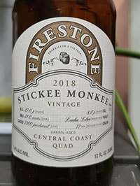 Stickee Monkee by Firestone Walker Brewing Company