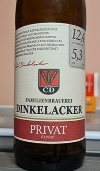 Dinkelacker Privat Export by Dinkelacker-Schwaben Brau